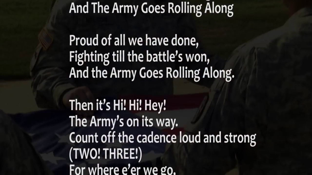 The Army Song - Army Values