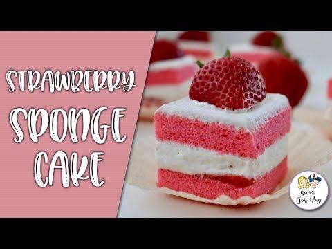 Strawbery Sponge Cake   Baking With Josh & Ange