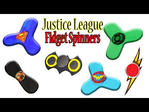 How To Make Justice League Fidget Spinner Toys (Batman, Flash, Wonder Woman, Aquaman, Superman) #DIY