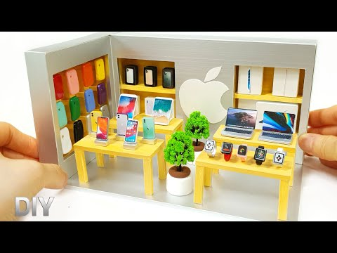 diy-miniature-realistic-shop---apple-store-decor-!-iphone-,-ipad-,-phonecase~
