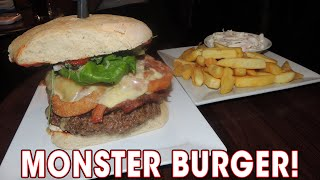 Monster Burger Challenge Red Lion's HUGE Cheeseburger | Randy Santel