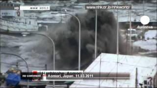 Japan tsunami footage - no comment