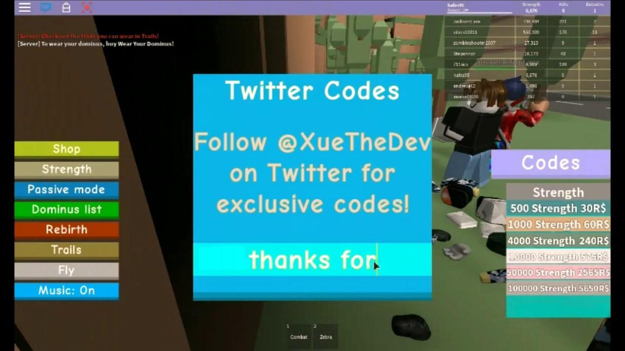 Codes For Dominus Lifting Simulator V2 | StrucidPromoCodes.com