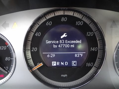 How To Turn Off 'SERVICE EXCEEDED' Message Mercedes C300