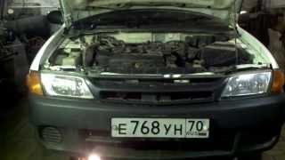 Ниссан АД замена  двигателя  часть первая , демонтаж .