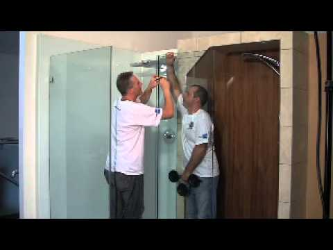 How to install shower enclosure SHOWERPOWER - YouTube
