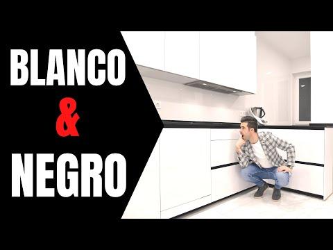 COCINA blanca 🤍 y encimera negra 🖤 // Cocinas CJR SANTOS
