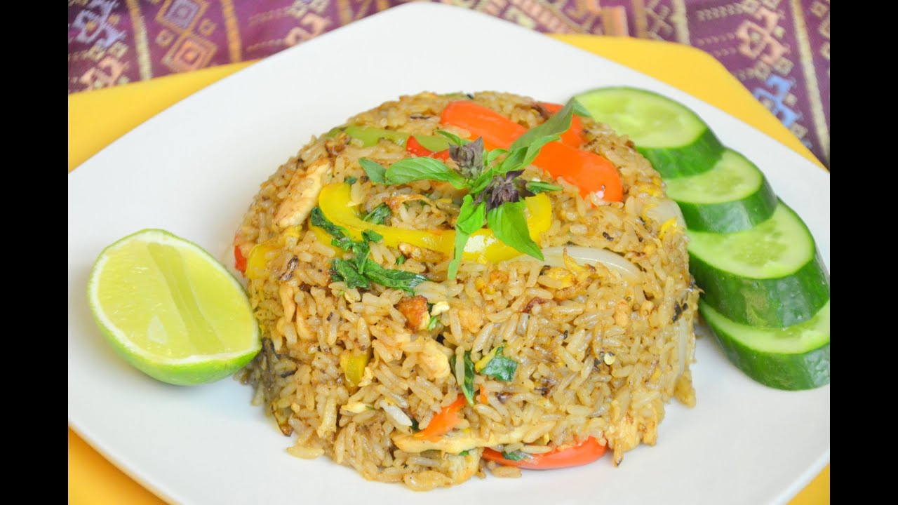 How to make thai spicy chicken fried rice youtube ccuart Images