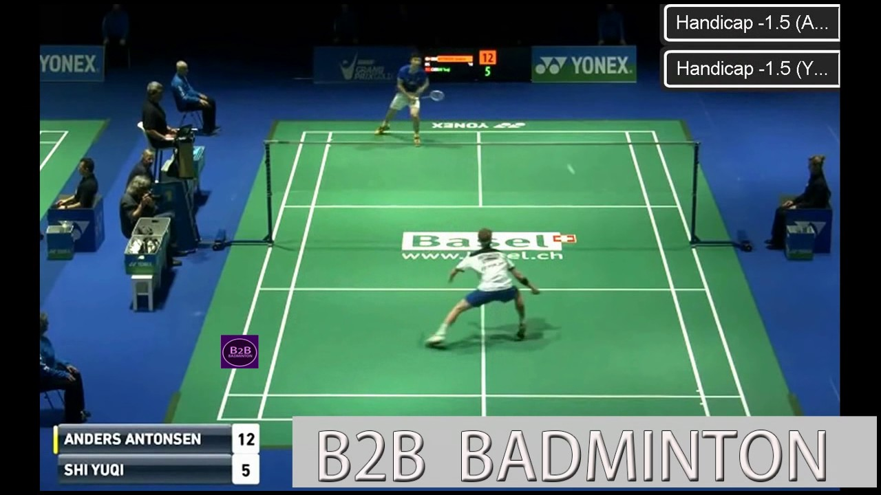 2017 YONEX Swiss Open R16 MS Anders ANTONSEN vs SHI Yuqi