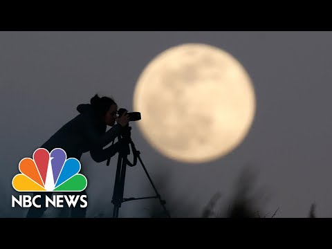 Watch: Largest Supermoon Of 2020 Radiates In The Night Sky | NBC News