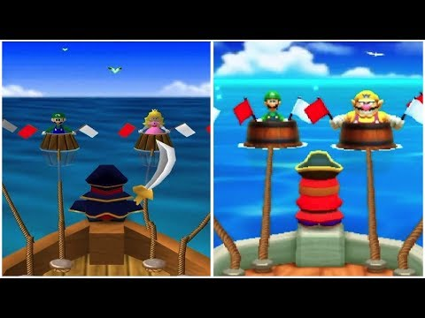 Mario Party: The Top 100 vs. Mario Party 1 - All Mini-Games Comparison (n64 vs. 3DS)