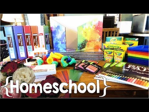 Homeschool Supplies Haul║ 2017-2018 School Year │Large Family