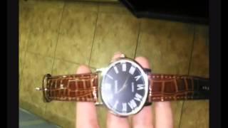 Обзор часов с Римскими цифрами (коричнивые)