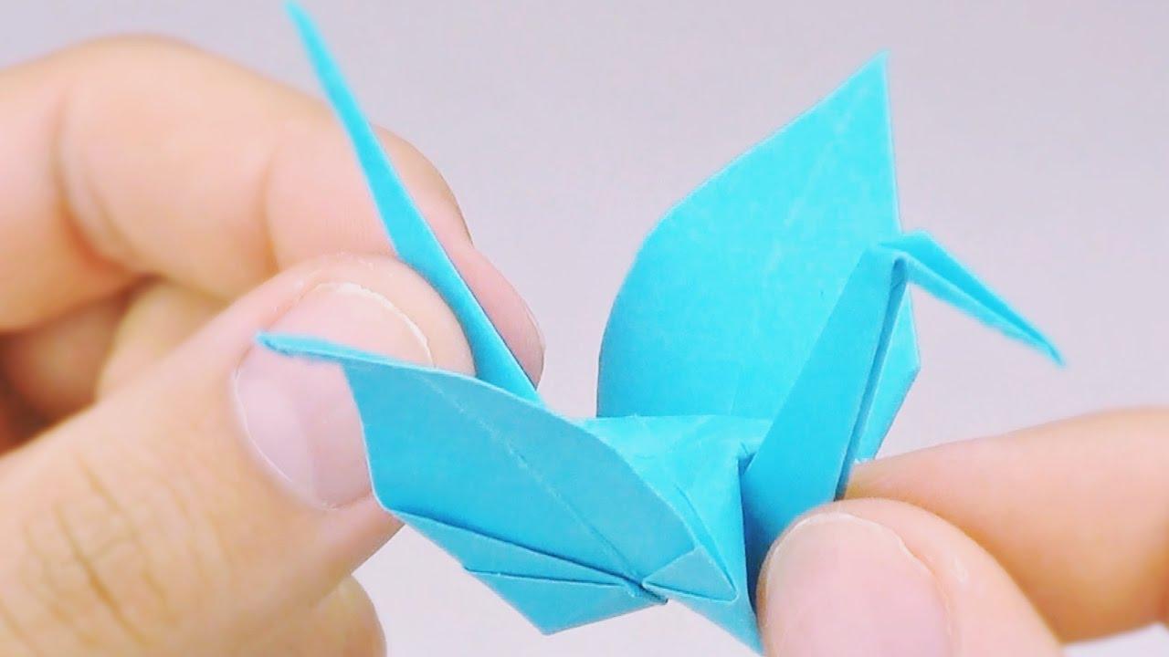 Grulla De Papel Origami Fácil Tutorial Youtube