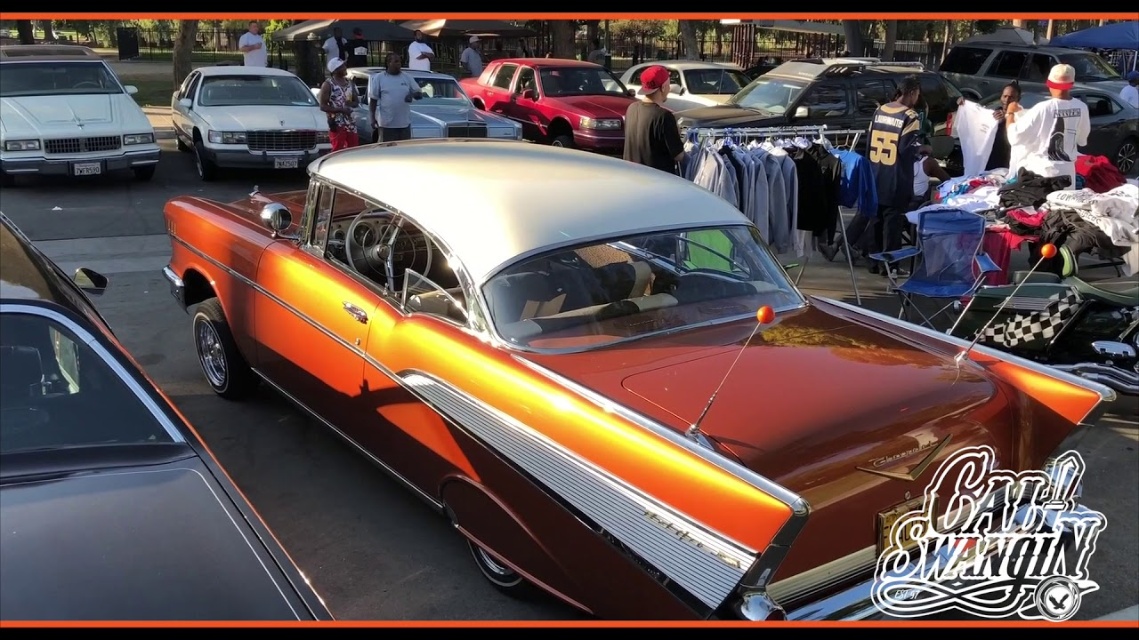 Cali Swangin The Space Coupe Flacos 1957 Chevy Bel Air Lowrider Impala
