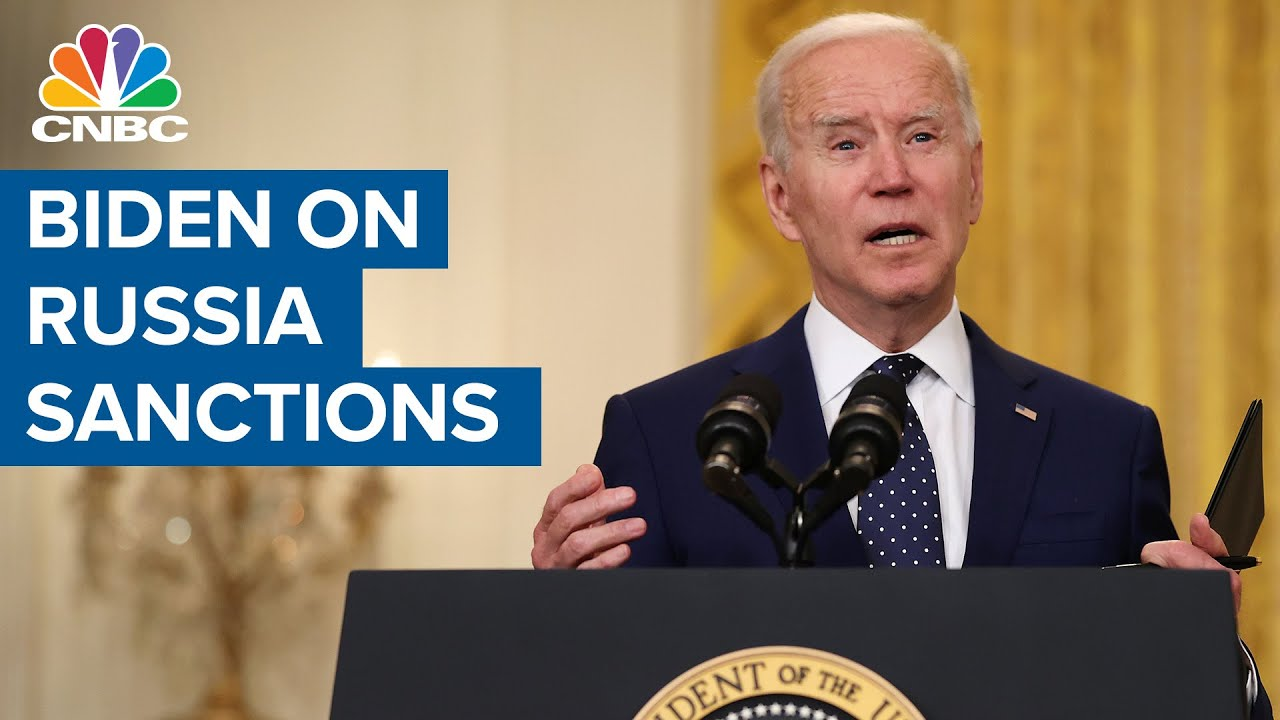 President Joe Biden comments on Russia sanctions and interference in the U.S. election