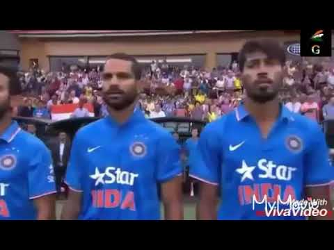#indian team de india song with Indian cricket team....