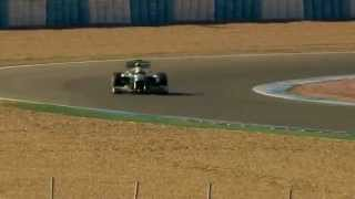 Lewis Hamilton - first laps in the F1 W04