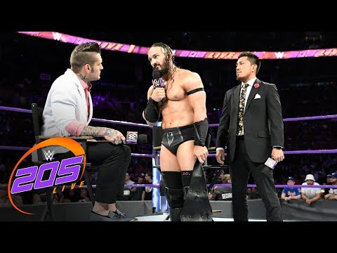 Neville And Tozawa Slug It Out After Tempers Flare During An Interview: WWE 205 Live, Aug. 8, 2017