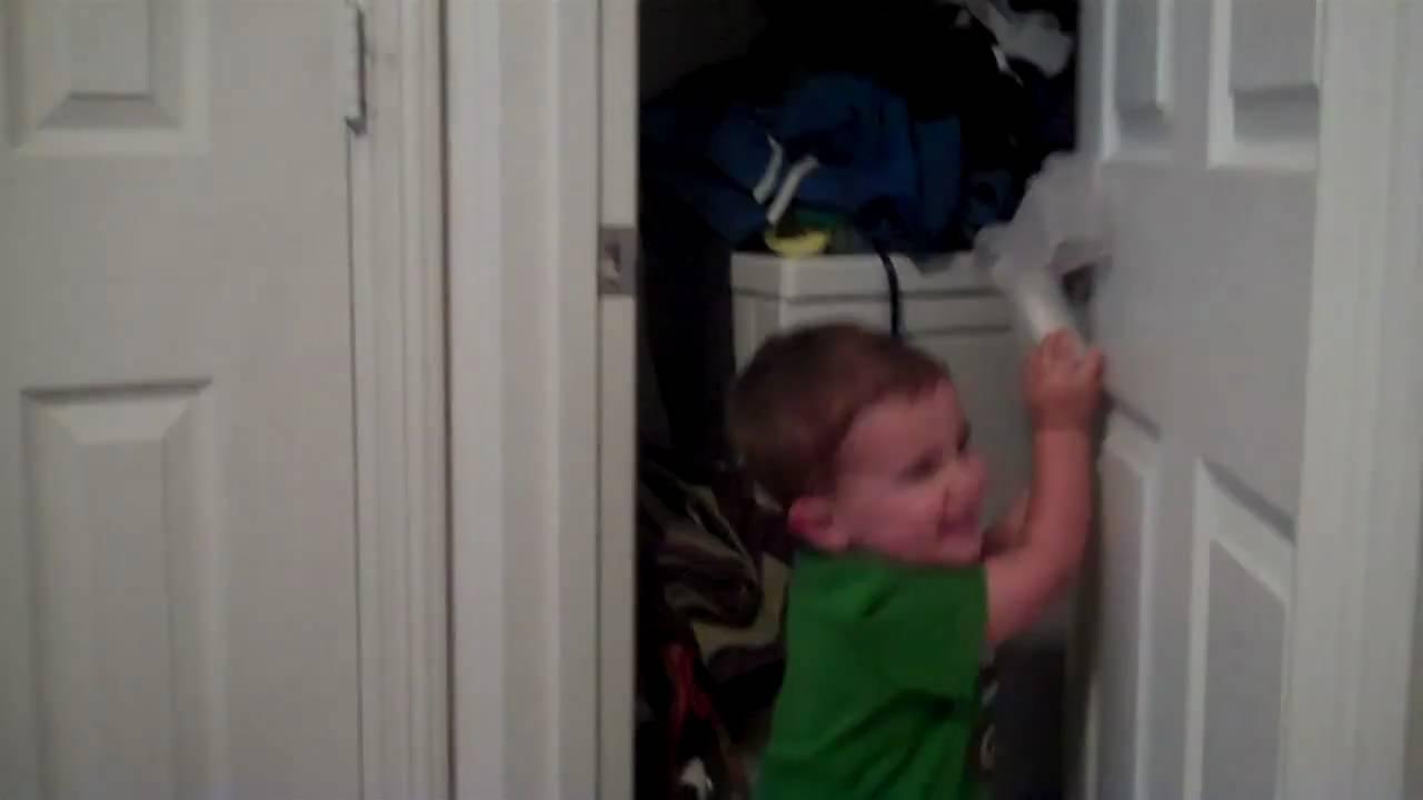 charlie opening the child proof door lock youtube. Black Bedroom Furniture Sets. Home Design Ideas
