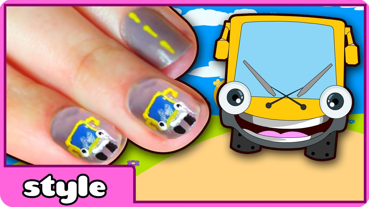 Diy easy nail art wheels on the bus nail art easy nail art diy easy nail art wheels on the bus nail art easy nail art designs at home prinsesfo Image collections