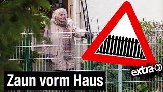 Realer Irrsinn: Die eingezäunte Dame in Bielefeld