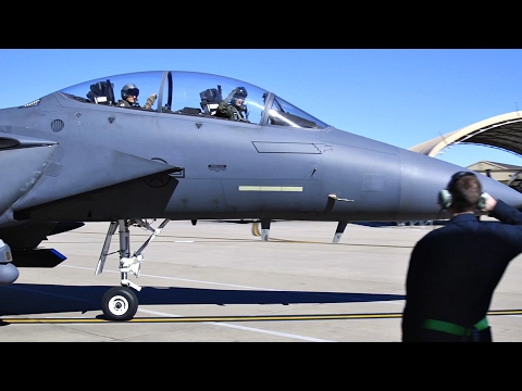 F-15E Fighters Takeoff From Seymour Johnson Air Force Base