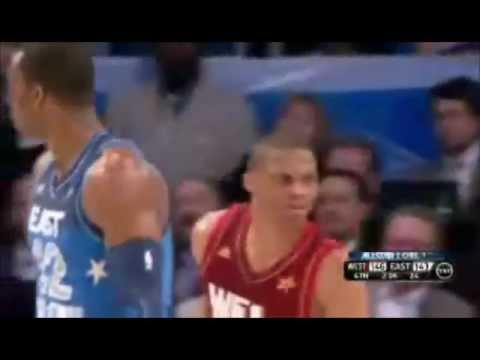 Russell Westbrook Dunk On Lebron James Nba 2012 All Star Game Youtube