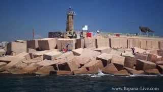 Морской порт в Испании, город Торревьеха и причал с моря(Посетите наш сайт Недвижимость Испании http://Espana-Live.com/ - Каталог недвижимости в Испании - квартиры (апартамен..., 2014-04-15T07:33:49.000Z)