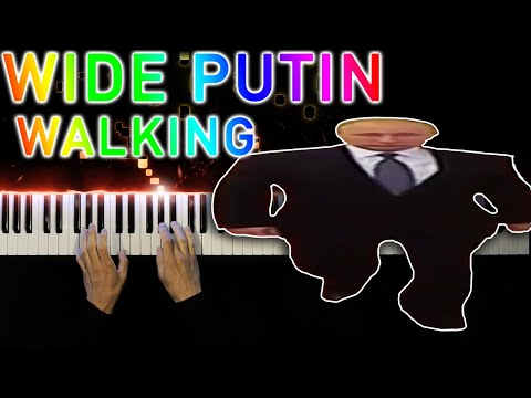 Wide Putin Walking Meme - Piano tutorial