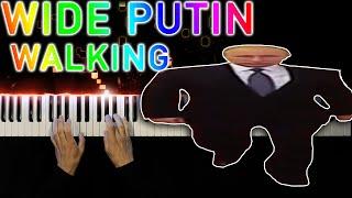 Wide Putin Walking Meme - Piano tutorial