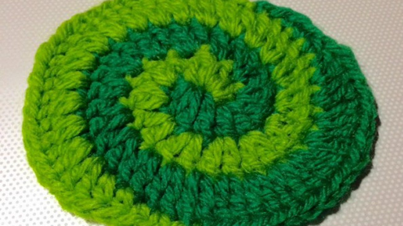 How To Crochet a Beautiful Two Color Spiral Pattern - DIY DIY ...