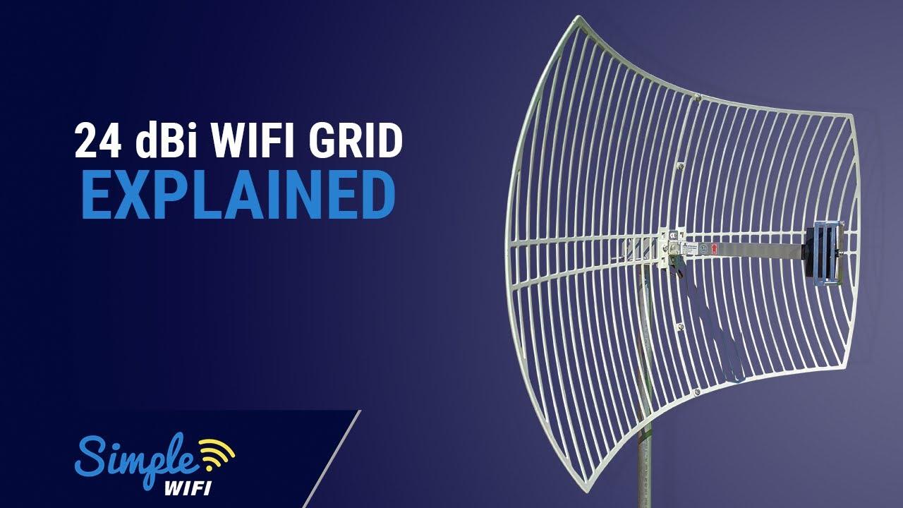 24dbi Parabolic Grid 2 4ghz Long Range Wifi Antenna