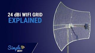 Antenna World G2424 Directional Range Booster WIFI Parabolic Grid Antenna