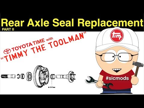 Toyota Rear Axle Seal/Bearing Replacement (Part 2)