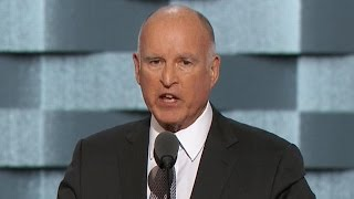 Jerry Brown delivers remarks on climate change