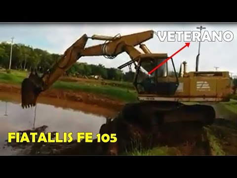 Operador veterano na Escavadeira fiatallis FE 105