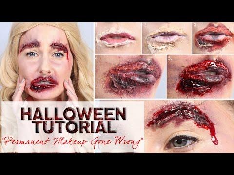Halloween Makeup – Permanent Makeup Gone Wrong Video