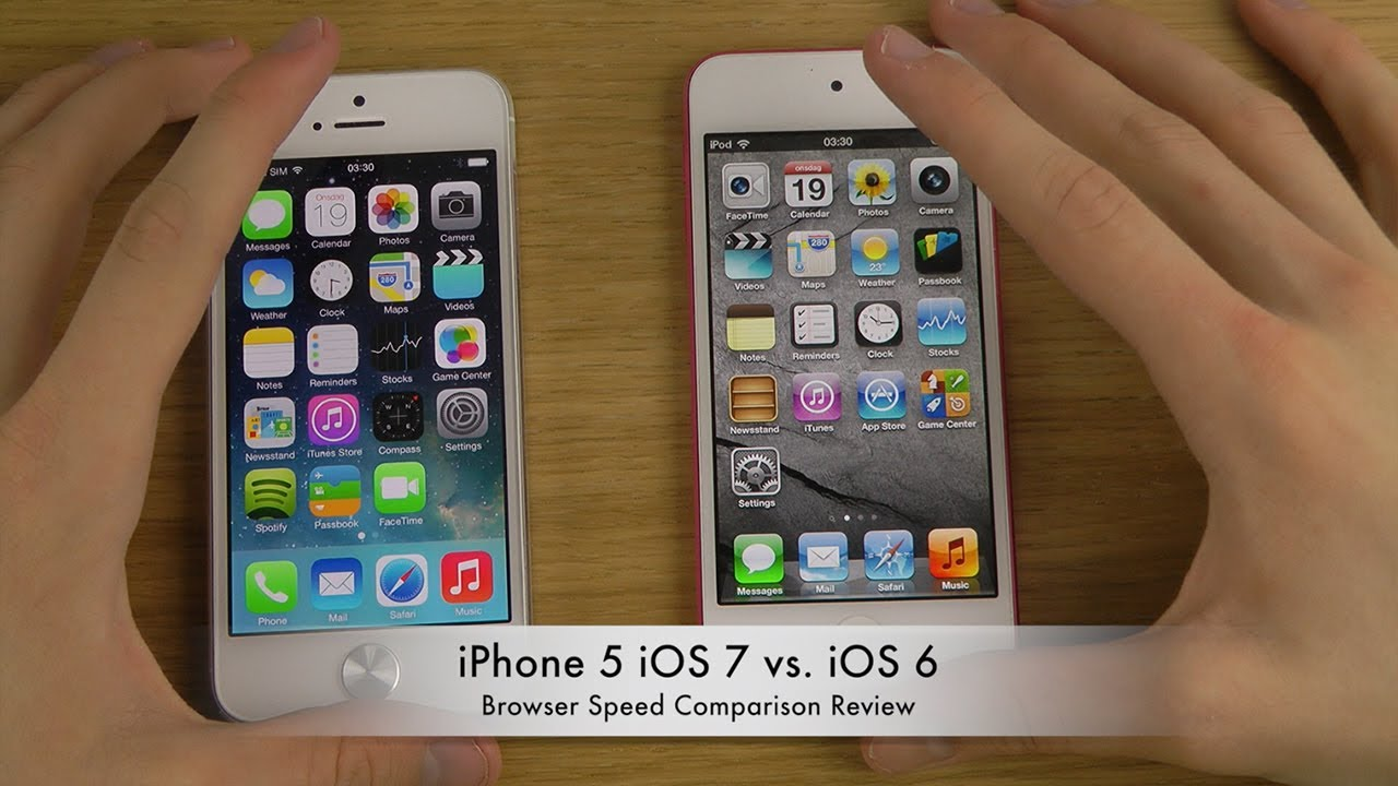 iPhone 5 iOS 7 vs. iOS 6 - Browser Speed Comparison Review ...