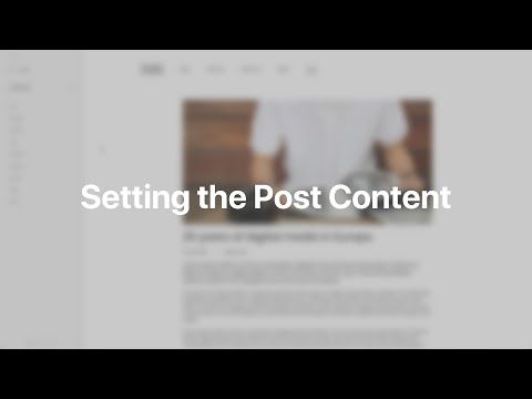 Setting The Post Content | YOOtheme Documentation (Joomla)