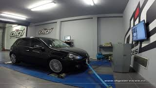 VW Golf 6 tdi 140cv AUTO Reprogrammation Moteur @ 182cv Digiservices Paris 77 Dyno
