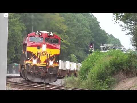 (KCS) Kansas City Southern ES44AC's Eastbound Intermodal Train In(HD) Mableton,Ga. 8-5-2013