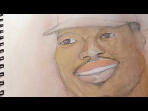 """HOW TO DRAW """"CHANCE THE RAPPER"""" MIXED MEDIA ART ILLUSTRATION TUTORIAL"""