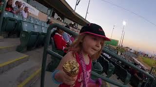 Mylee's first baseball game