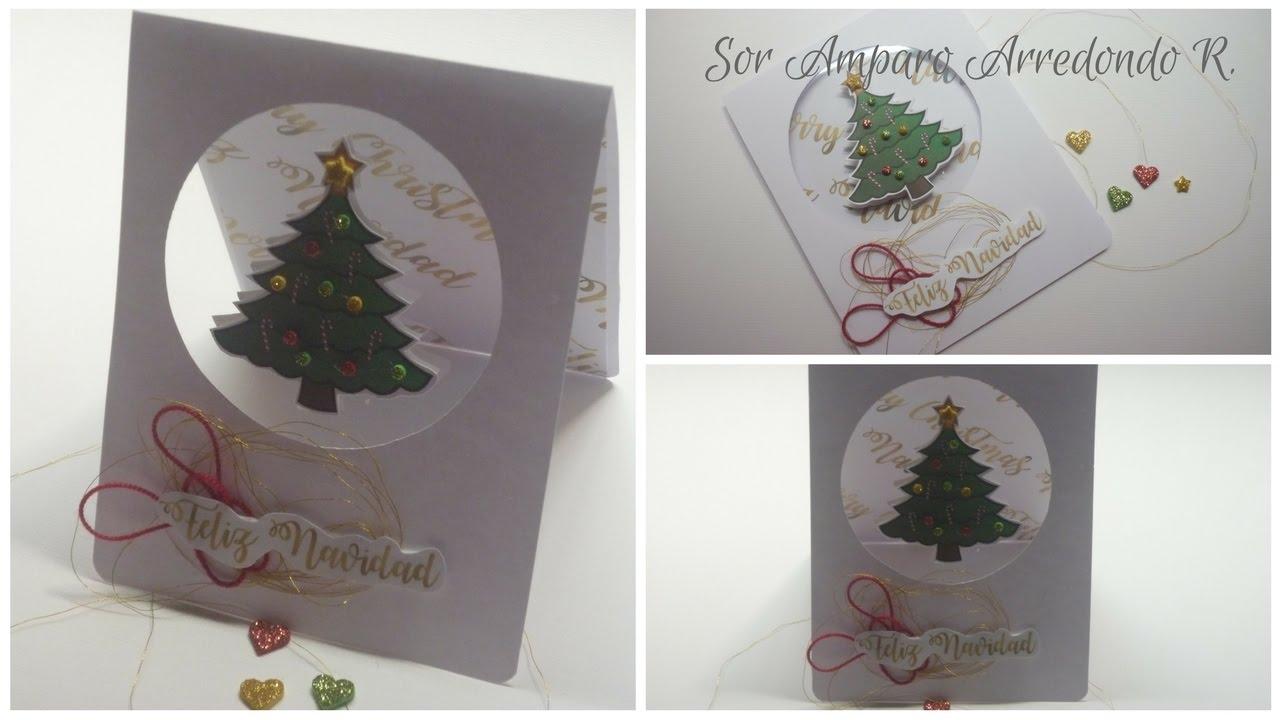Manualidades para navidad como hacer tarjeta para navidad - Como hacer targetas de navidad ...