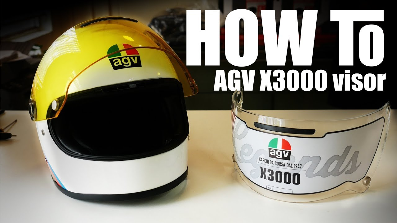 c94597a8 How to' change an AGV X3000 Helmet Visor - YouTube