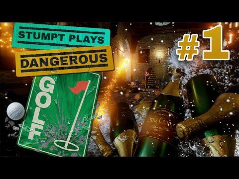 Dangerous Golf - #1 - Smashing Pies with Balls! (4 Player Gameplay)