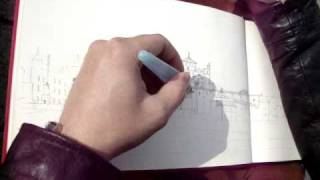 Drawing Mosque-Cathedral-Cordoba-Spain_3/4.MPG