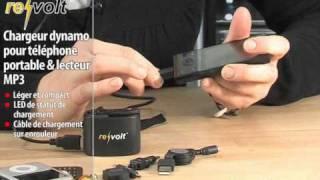 CHARGEUR DYNAMO POUR TÉLÉPHONE PORTABLE & LECTEUR MP3
