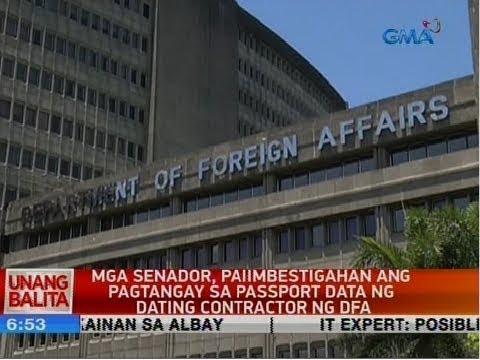 UB: Mga Senador, Paiimbestigahan Ang Pagtangay Sa Passport Data Ng Dating Contractor Ng DFA